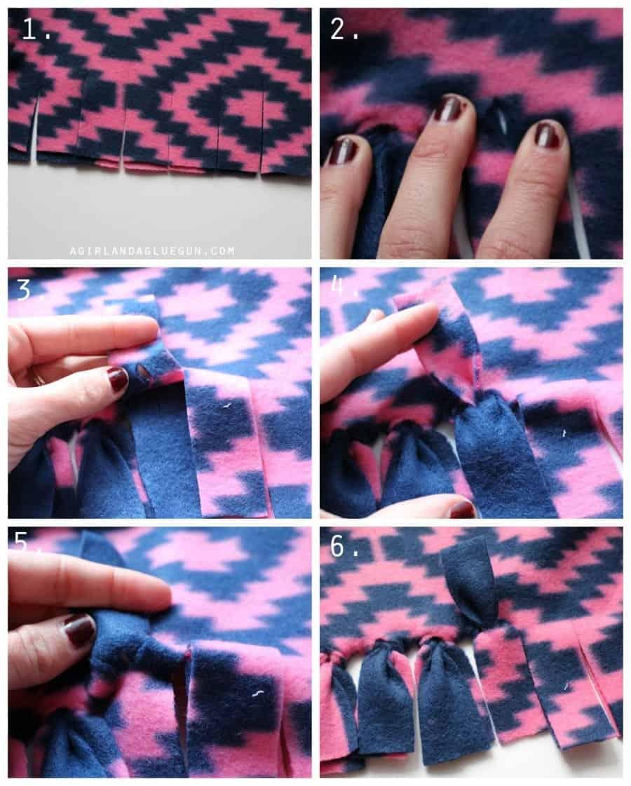 how to tie a fleece blanket