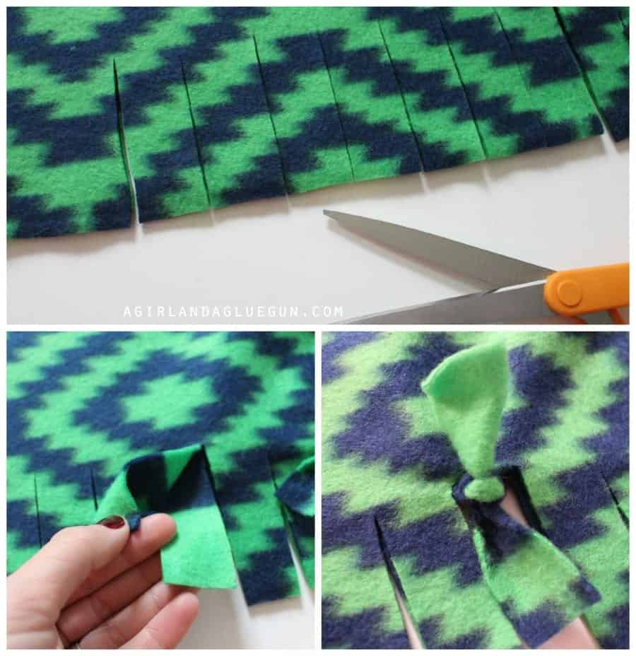 how to tie a fleece blanket