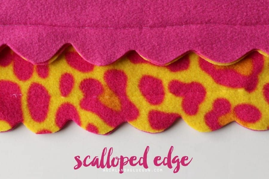 scalloped edge fleece blanket how to