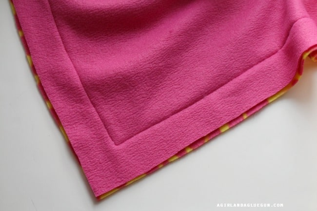 sew a fleece blanket