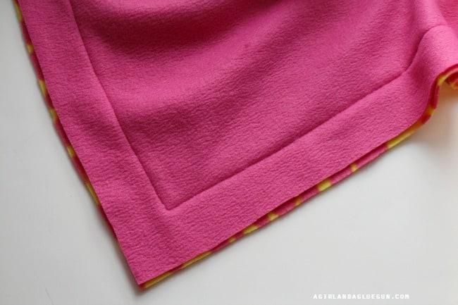 sew a fleece blanket