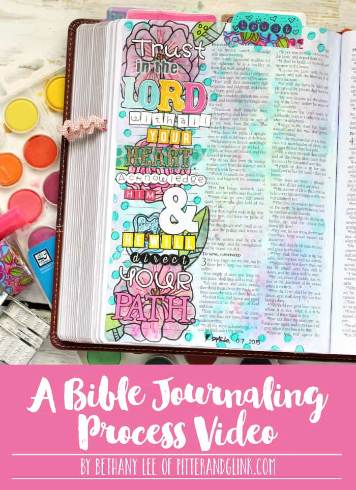 Bible Journaling Video Title Collage