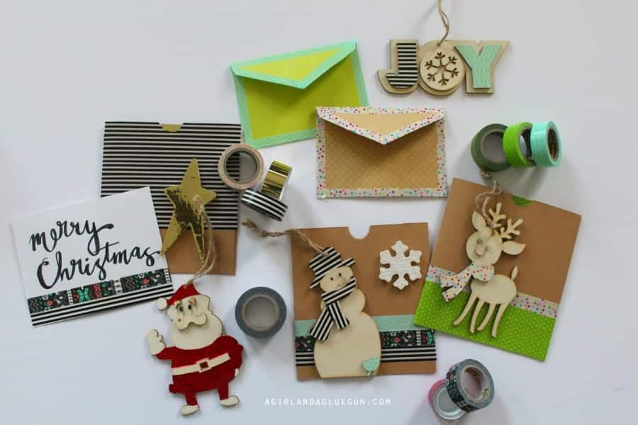 Christmas cards with washi tape