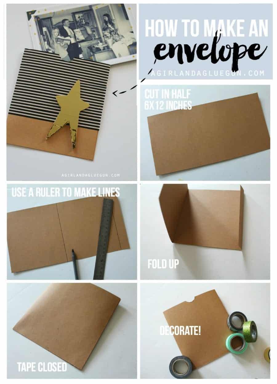 How to make an envelope a girl and a glue gun