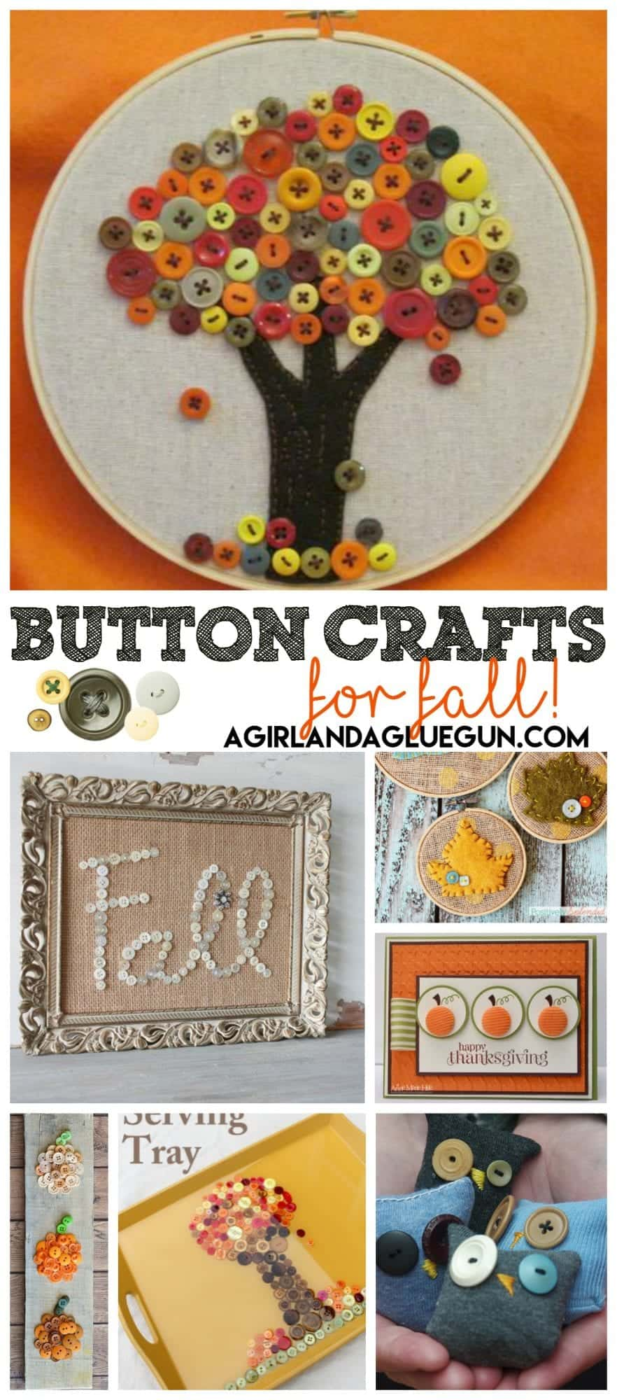 button crafts for fall