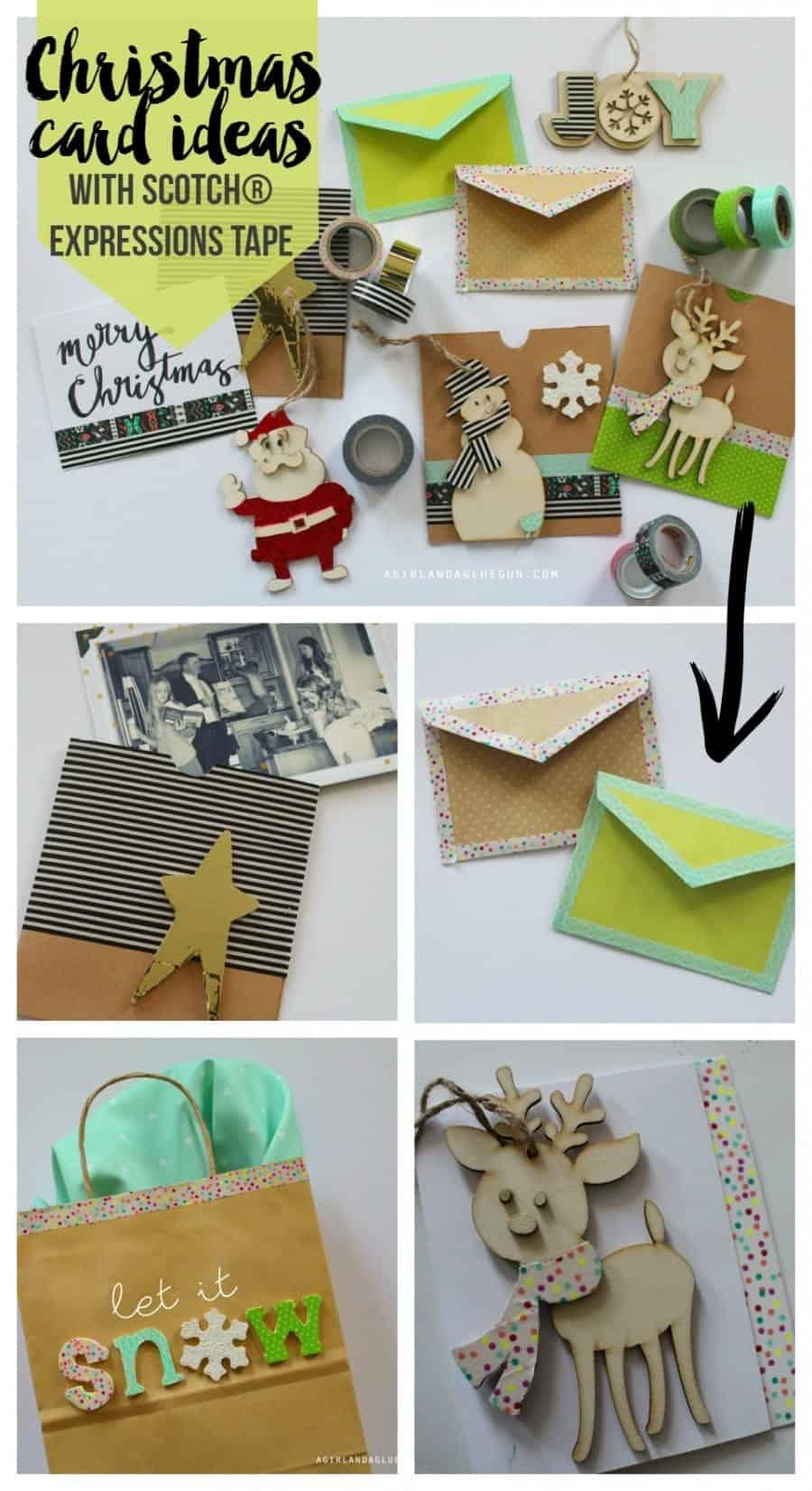 christmas card ideas with scotch