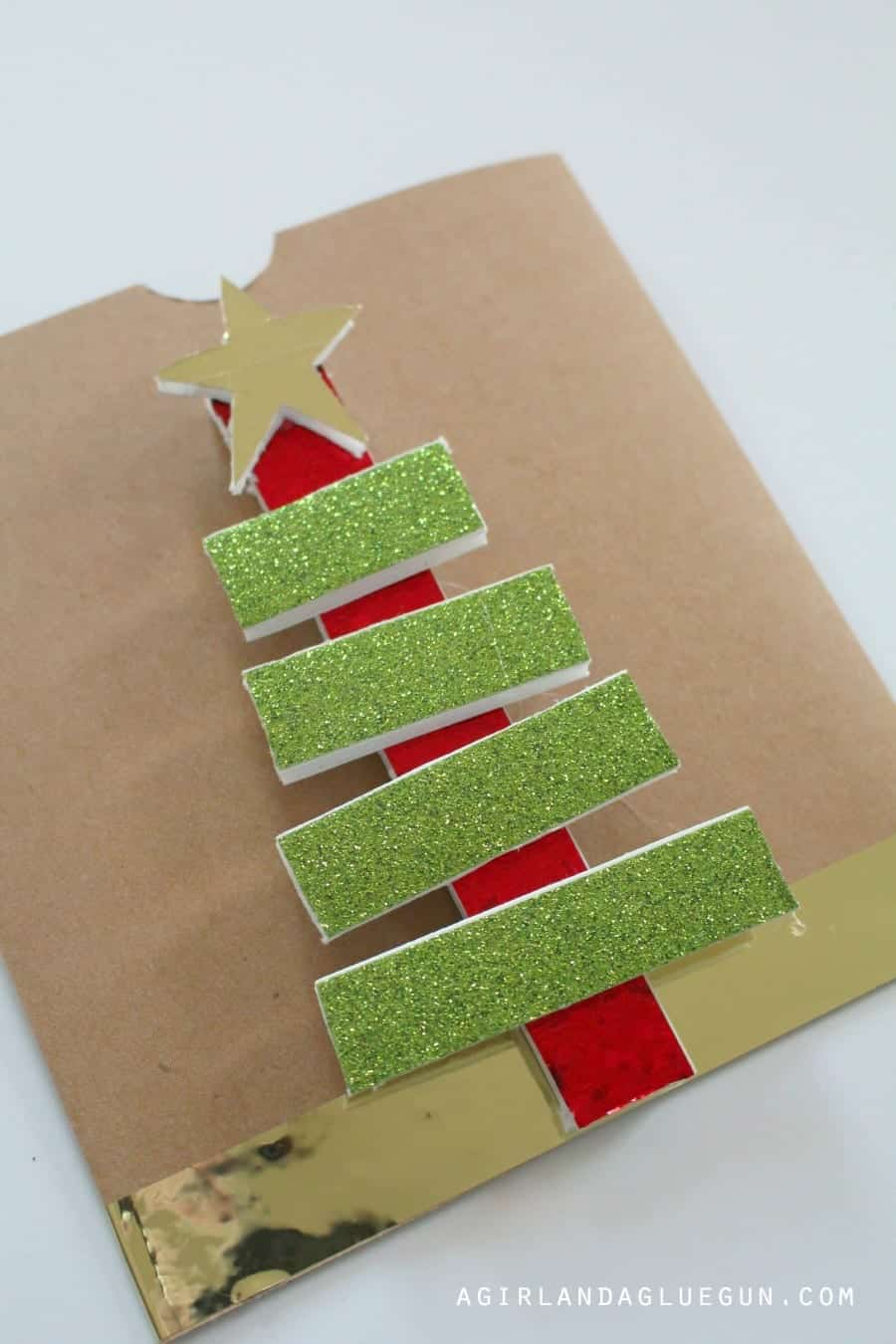 christmas tree with glitter