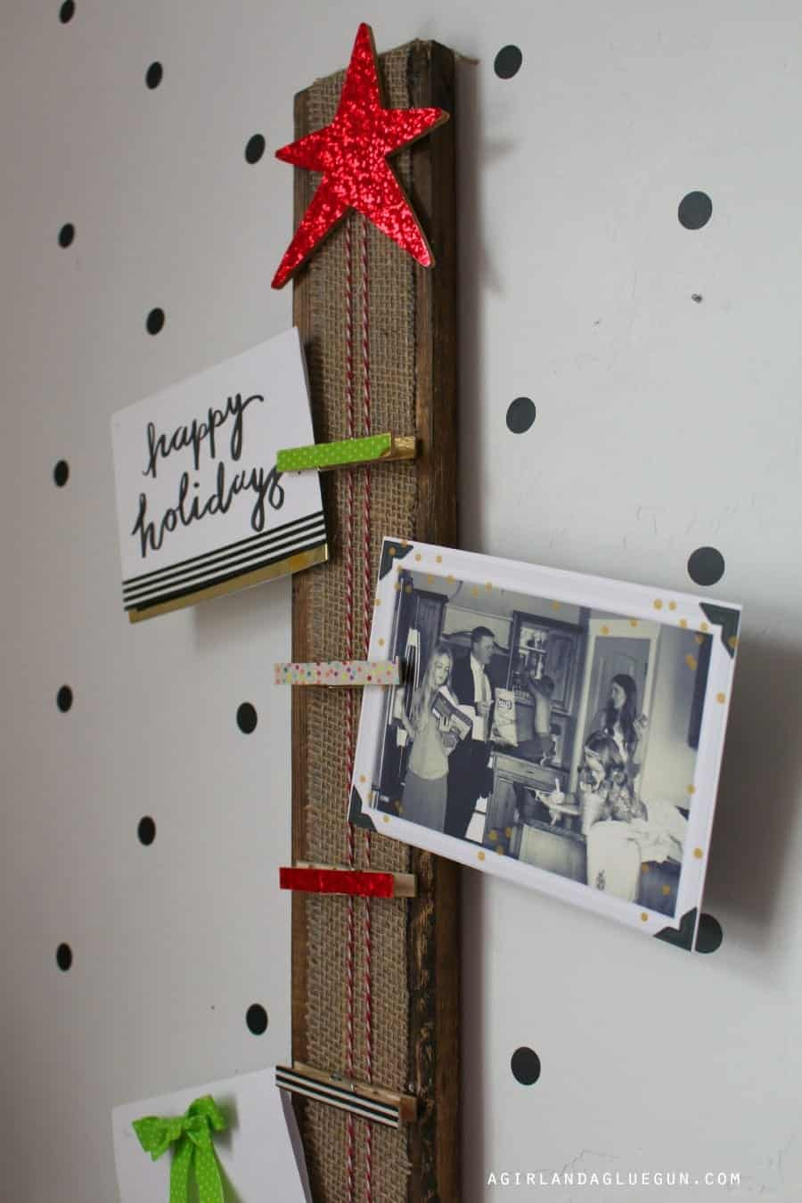clothespin holder for cards