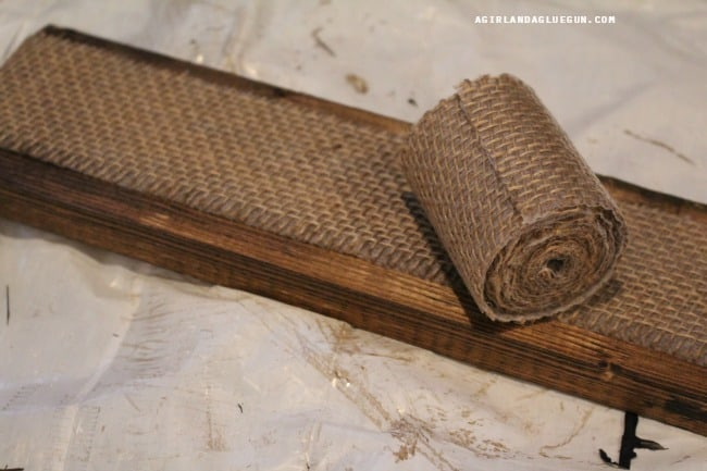 cover board with burlap