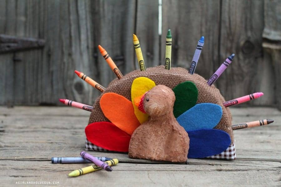 crayon holder for thanksgiving