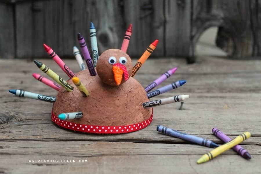 crayon holder turkey