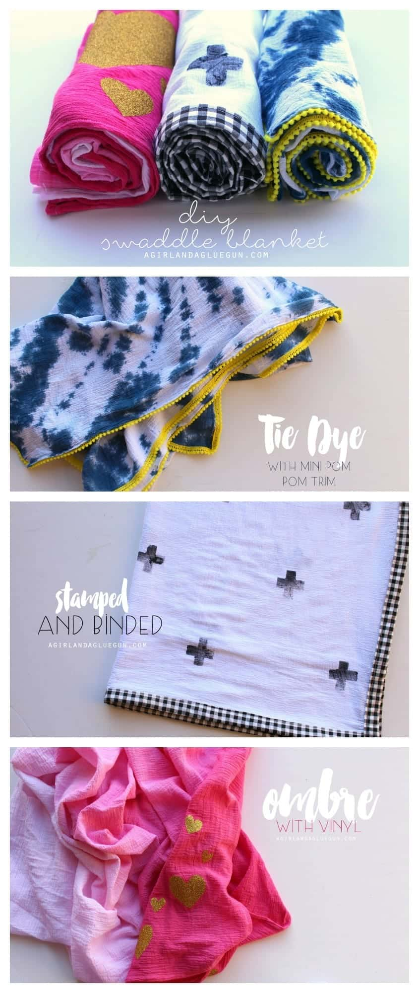 diy swaddle blanket 3 different ways to personalize them