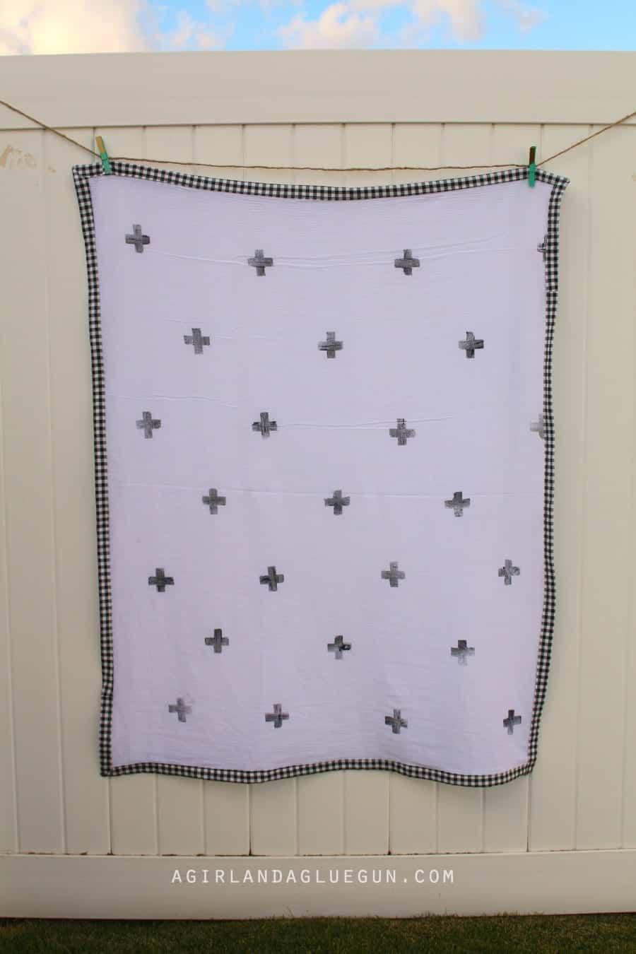 easy baby gauze blanket