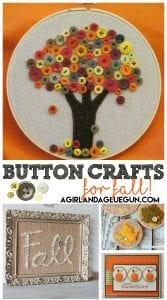 Fall Button Roundup! Fun Craft ideas!