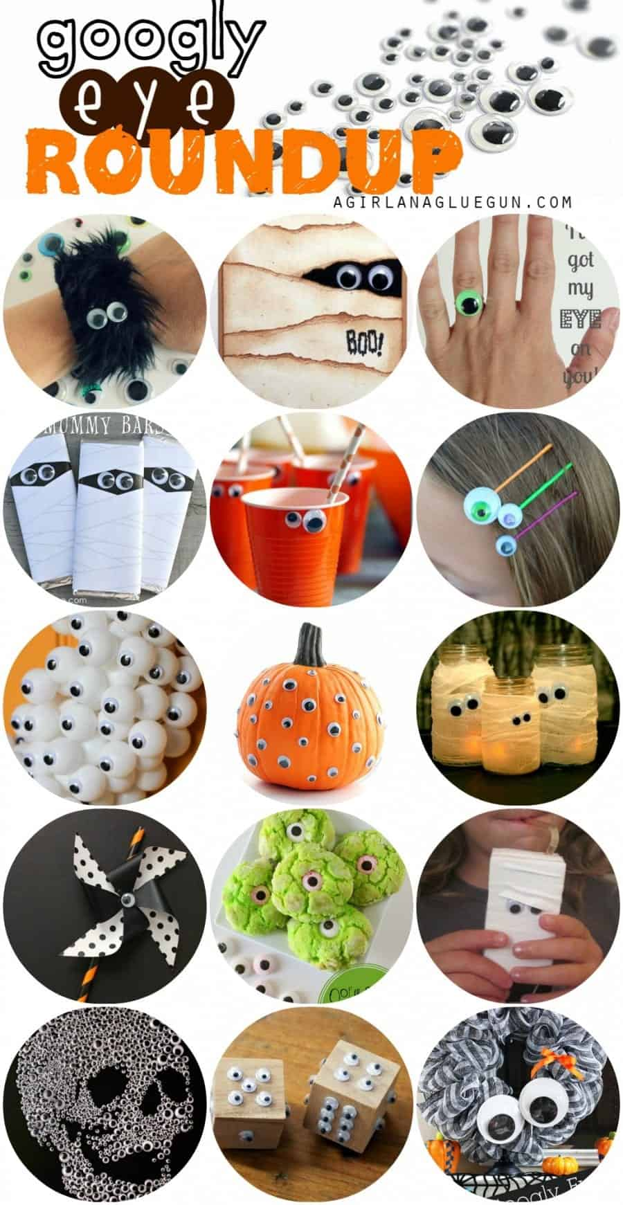 googly eye roundup--25 fun crafts to make for halloween