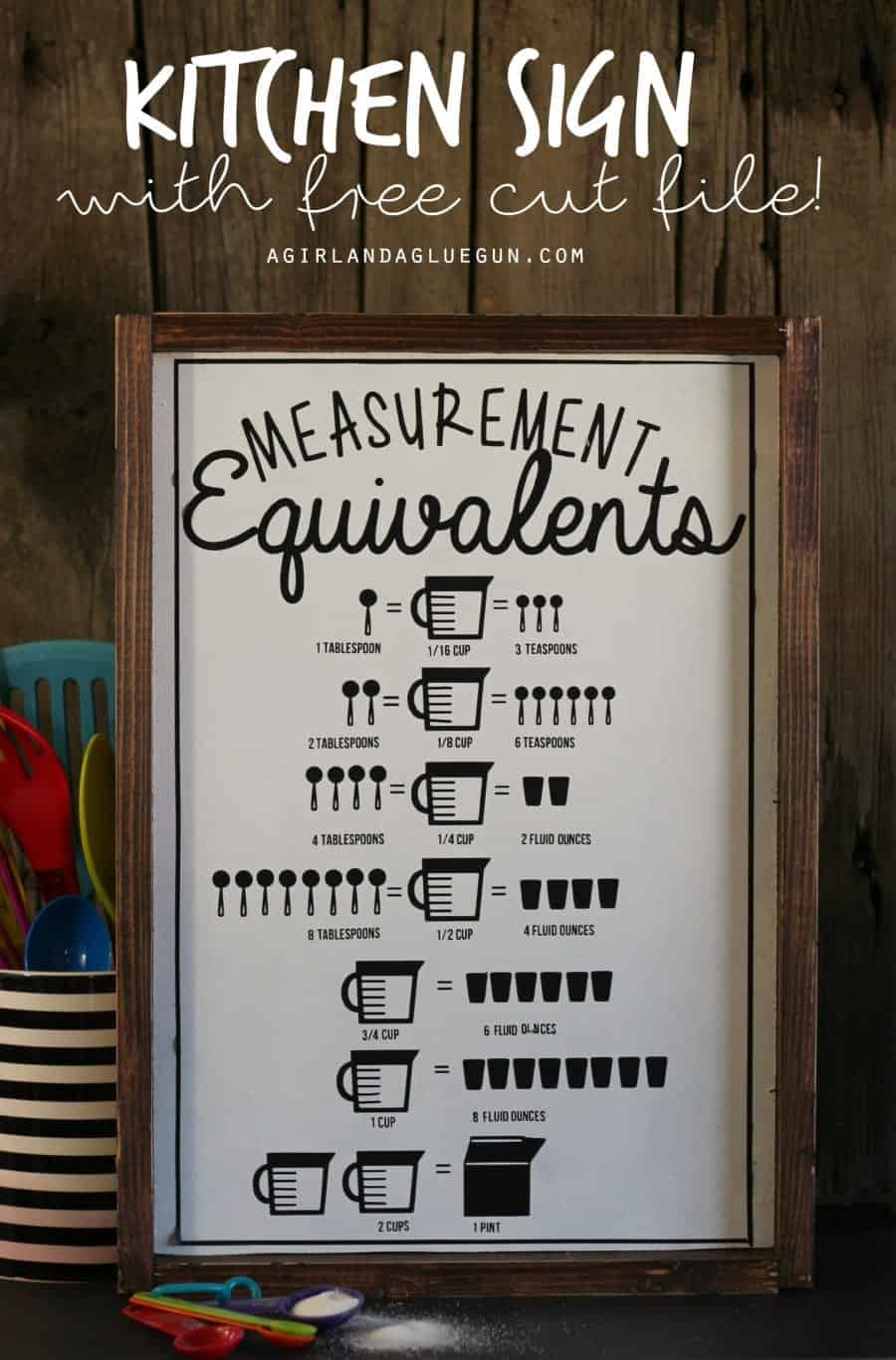 Download Kitchen measurement equivalent sign-with free cut file ...