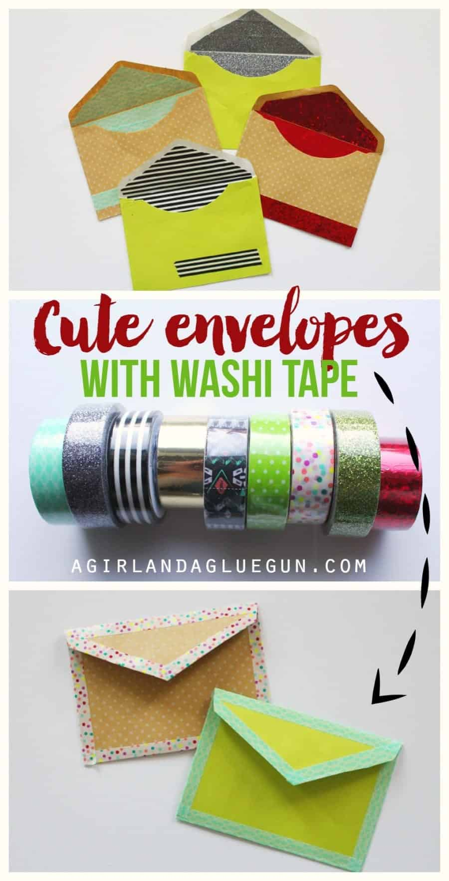 make adorable envelopes with washi tape