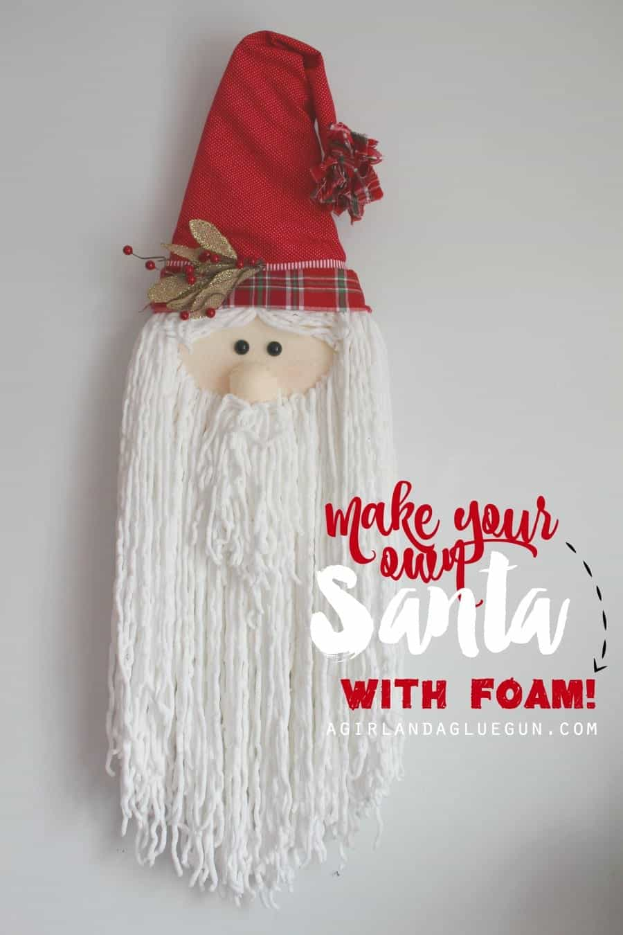 make your own santa claus head craft with floracraft foam --a girl and a glue gun.com