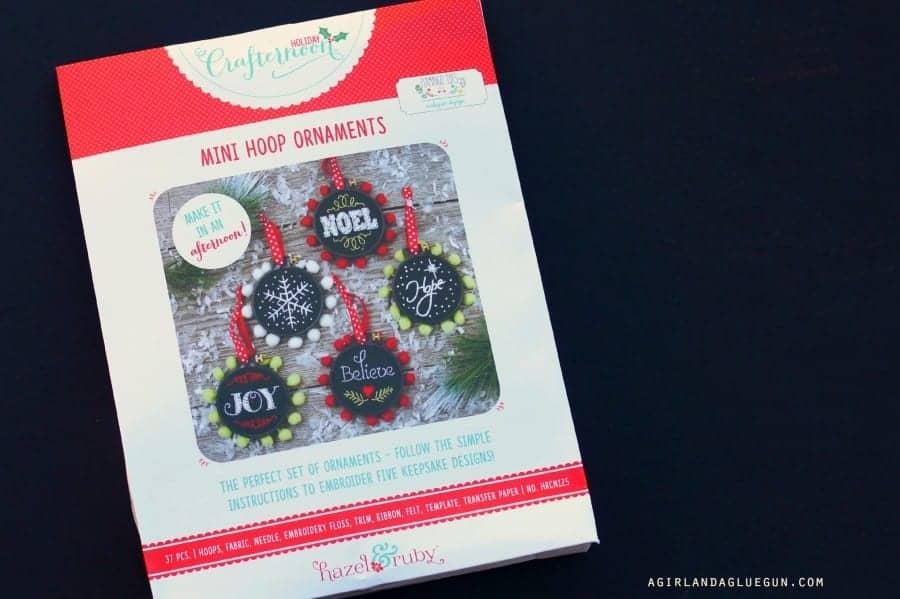 mini hoop ornaments