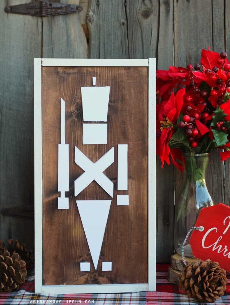 nutcracker with wood stain