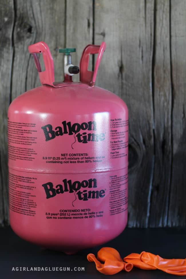 supplies balloon helium tank