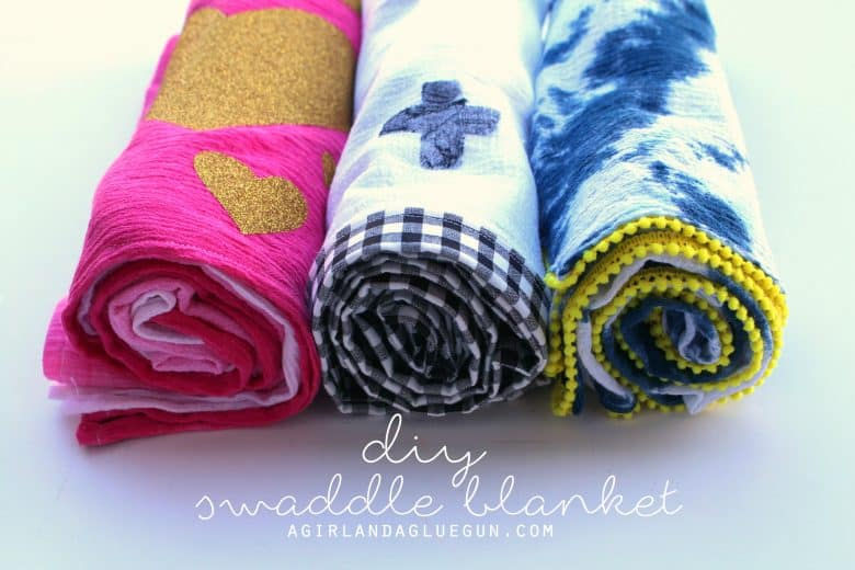 Diy Baby Swaddle Blanket A Girl And A Glue Gun