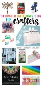 the complete list of things to buy for crafters--lots of fun items!