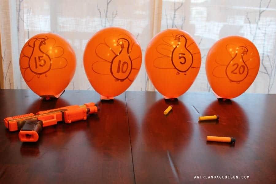 turkey balloon game