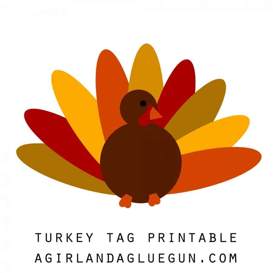 turkey tag printable
