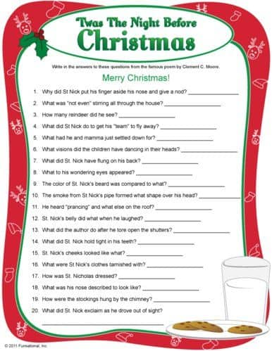 christmas charades game and free printable roundup a girl and a glue gun. Black Bedroom Furniture Sets. Home Design Ideas