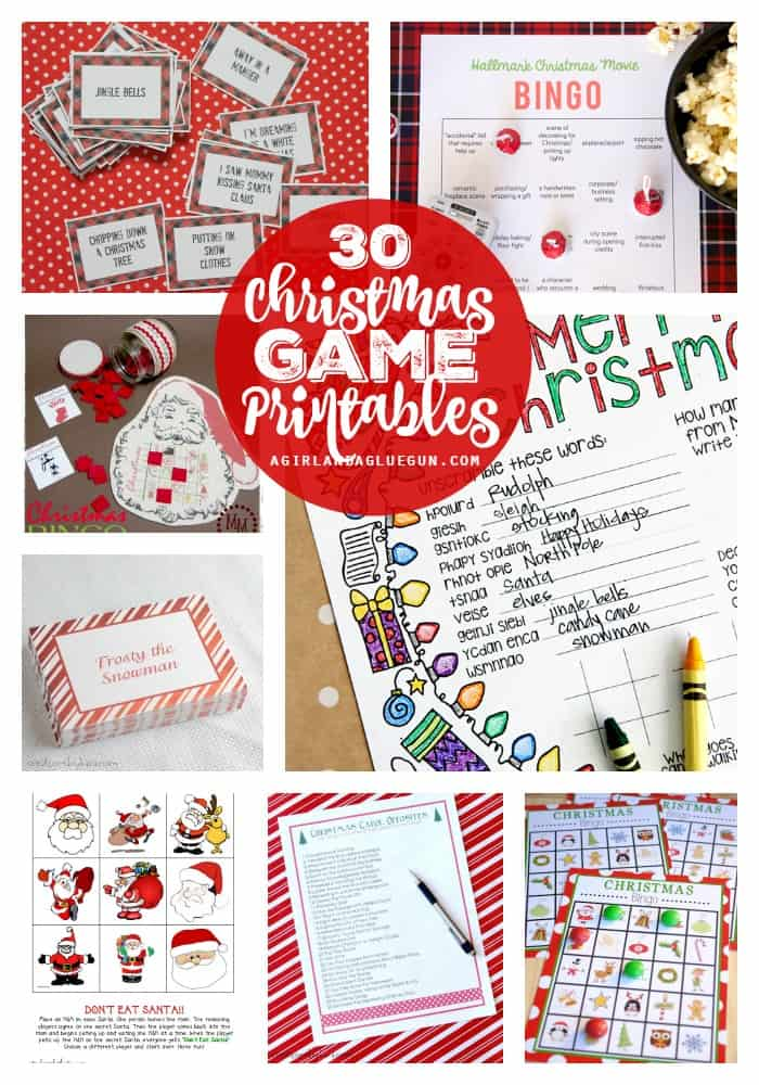 30 Christmas game printables