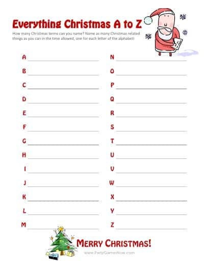 picture about Printable Christmas Games With Answers called xmas charades activity and free of charge printable roundup! - A woman