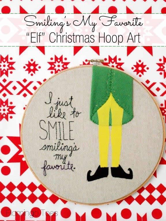 Elf-Christmas-Embroidery-Hoop-Art