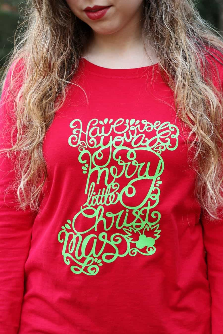 HandLettered Stocking Shirt Bethany