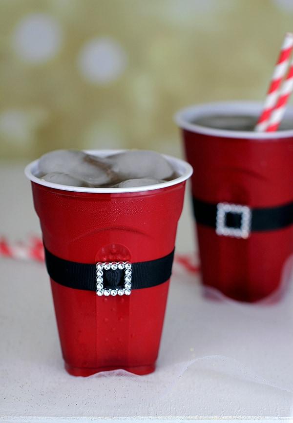 Santas-Belt-Plastic-Cup-Craft