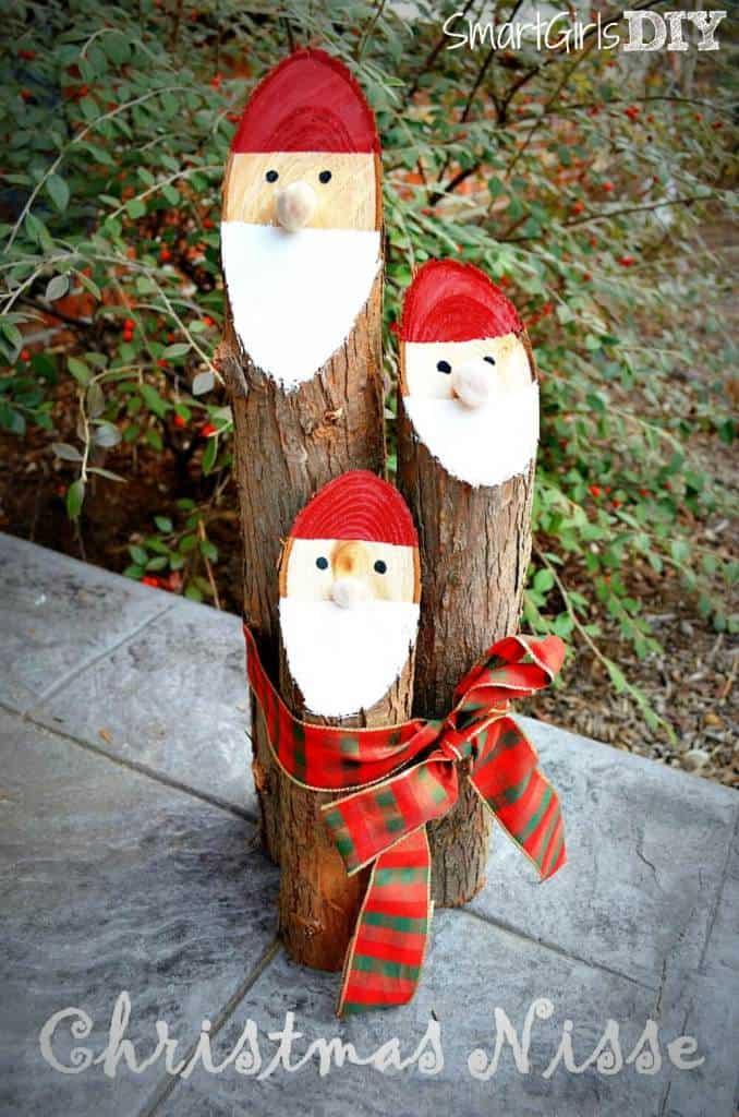 Smart-Girls-DIY-Cedar-Log-Christmas-Nisse-cute-and-easy-craft