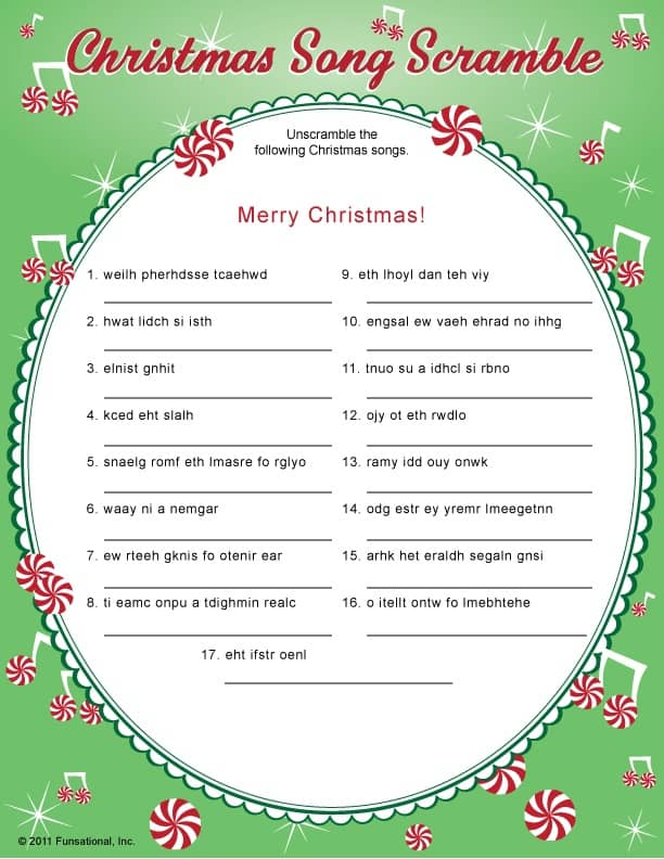 picture about Christmas Song Scramble Free Printable named xmas charades recreation and absolutely free printable roundup! - A female
