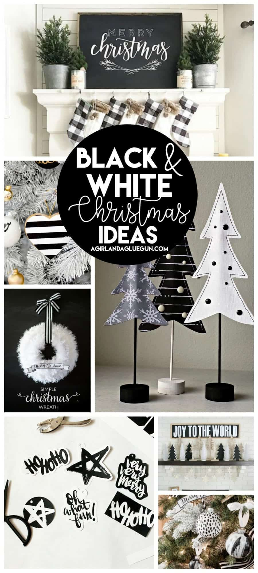black and white christmas decoration ideas so many