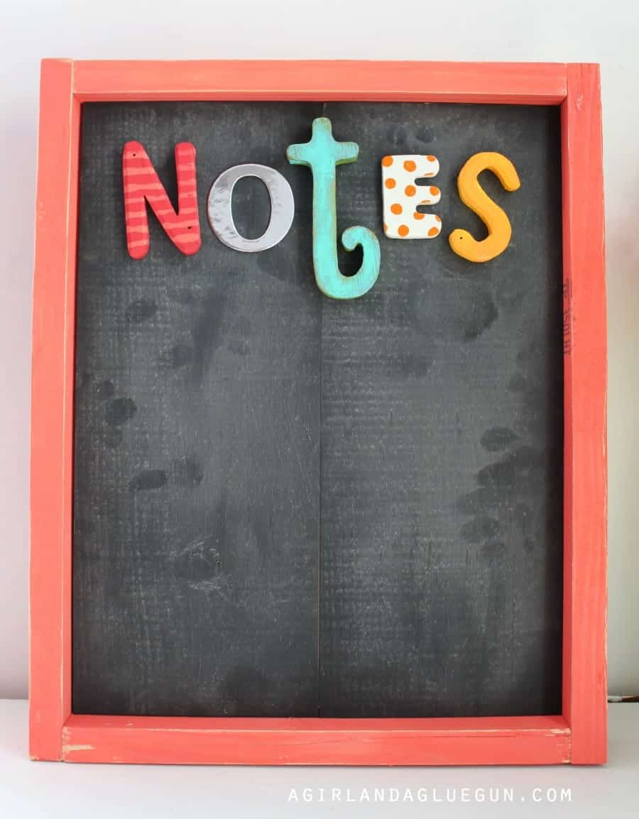 chalkboard note board