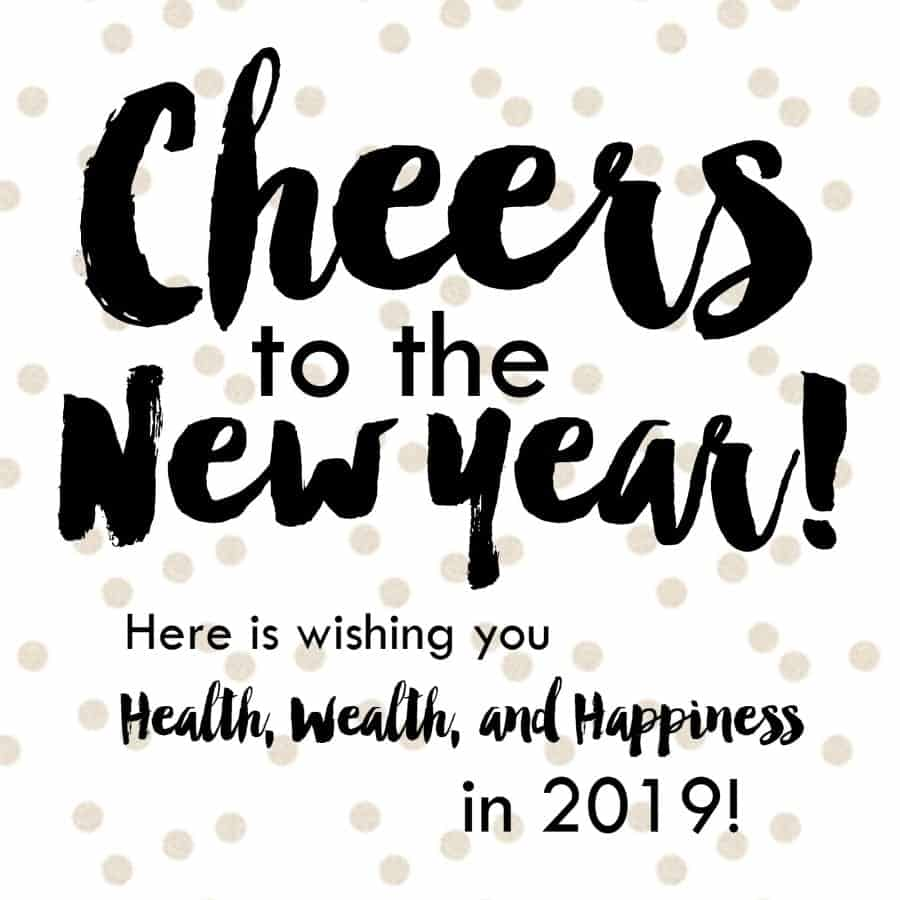 cheers to the new year 2019