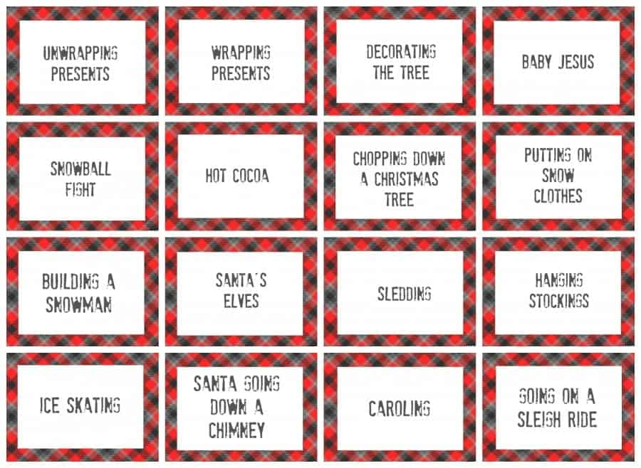 photograph relating to Charades for Kids Printable identified as xmas charades activity and totally free printable roundup! - A lady