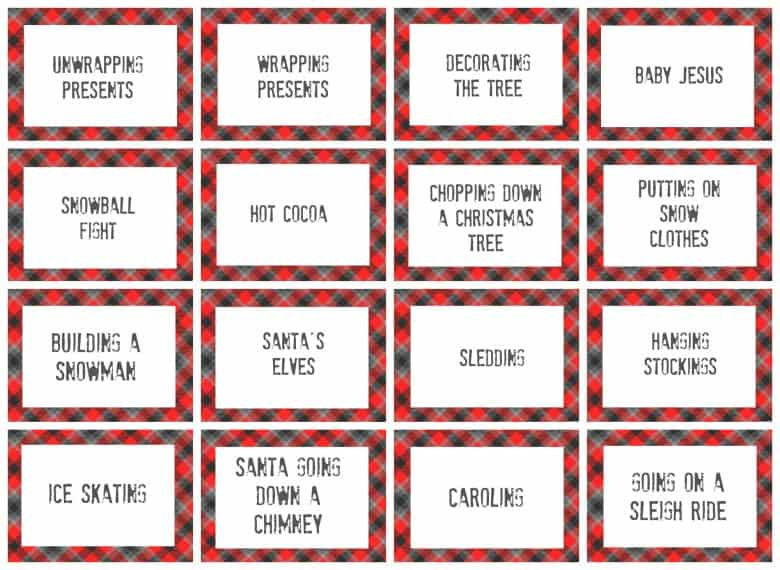 christmas charades game and free printable roundup  A girl and a