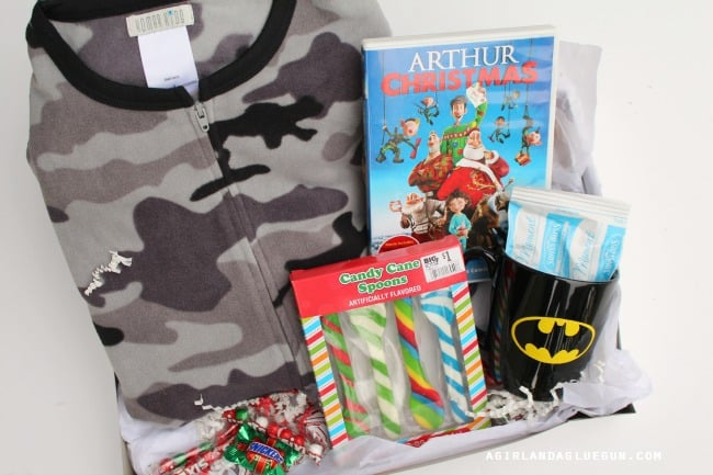 christmas eve present with pajamas