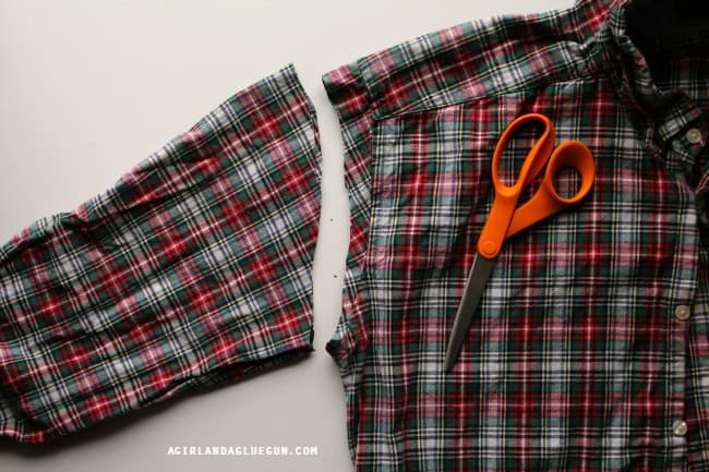 cut up a flannel shirt