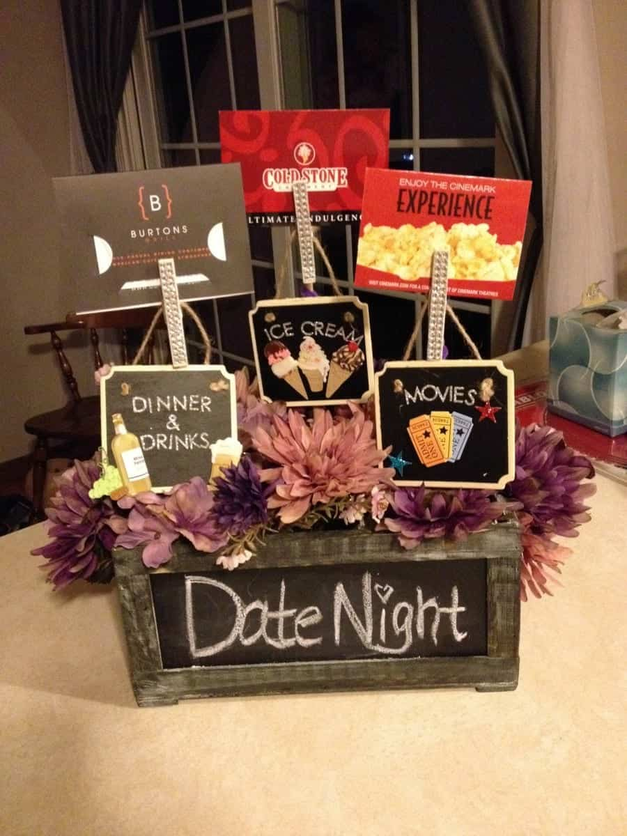 Date nightu2013Gift cards to all the fun places you love to go! ... & Themed gift basket roundup - A girl and a glue gun