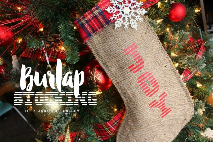 diy burlap stocking