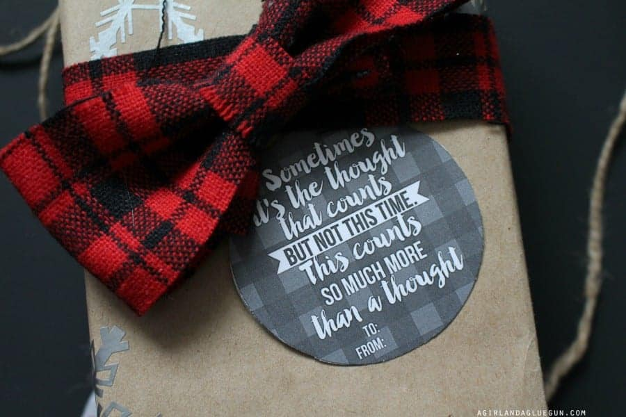 flannel gift tag