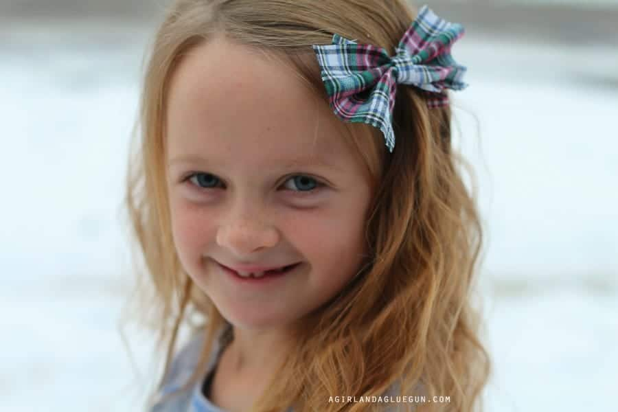 flannel hair bows