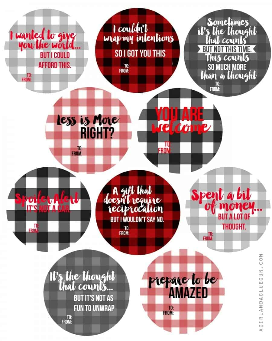 free plaid printables