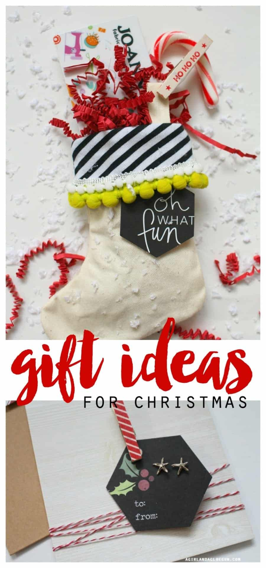 Stocking gift card holder: easy christmas gift! - A girl and a glue gun